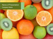 Tropical fruits PowerPoint Templates