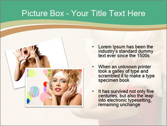 Woman suffering from noise and covering her head with a pillow PowerPoint Templates - Slide 20