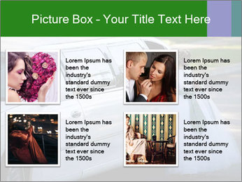 Girl with a bouquet looks in the window of the limousine and dreams PowerPoint Template - Slide 14