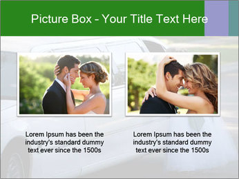 Girl with a bouquet looks in the window of the limousine and dreams PowerPoint Template - Slide 18
