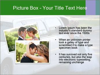 Girl with a bouquet looks in the window of the limousine and dreams PowerPoint Template - Slide 20