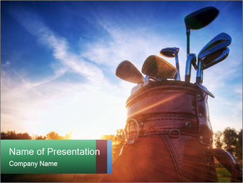 Golf Equipment PowerPoint Template