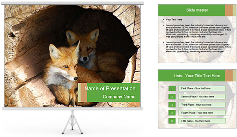 Furry Fox PowerPoint Template