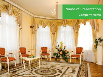 Wealthy Interior Design PowerPoint Template - Slide 1