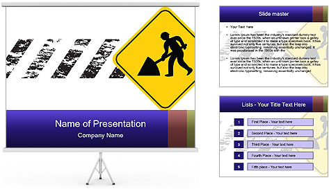 Construction Sign PowerPoint Template