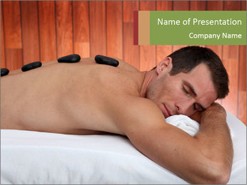 Man At Spa Salon PowerPoint Template - Slide 1