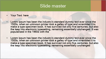 Man At Spa Salon PowerPoint Template - Slide 2