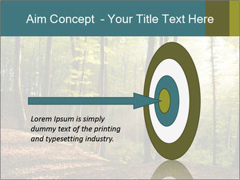 Backlight In Forest PowerPoint Template - Slide 83