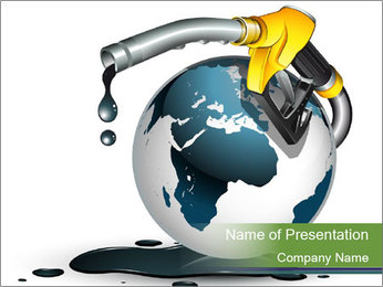 Oil Pollution PowerPoint Template - Slide 1