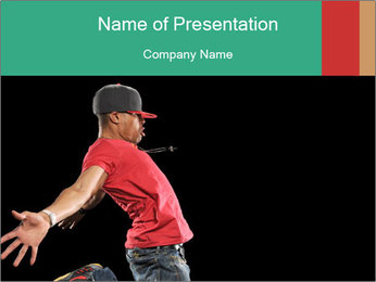 Stylish Hip Hop Dancer PowerPoint Template