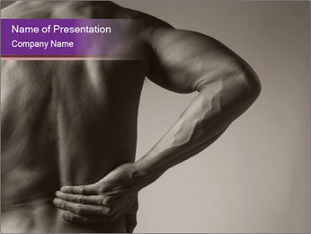 Athlete With Backache PowerPoint Template - Slide 1