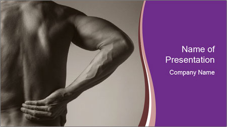Athlete With Backache PowerPoint Template