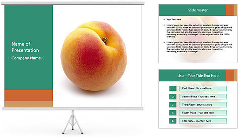Fresh Apricot PowerPoint Template