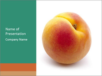 Fresh Apricot PowerPoint Templates - Slide 1