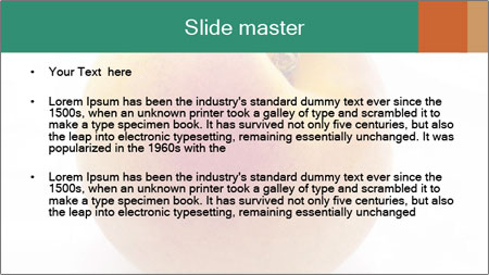 Fresh Apricot PowerPoint Template - Slide 2
