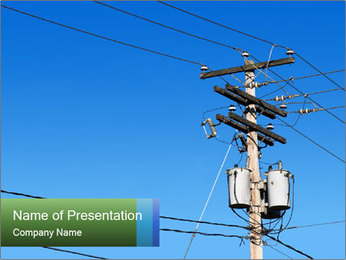 Electricity Distribution PowerPoint Template - Slide 1
