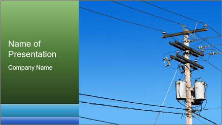 Electricity Distribution PowerPoint Template