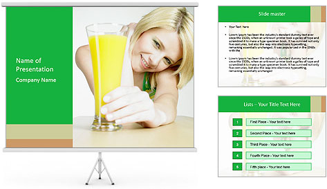 Woman And Orange Juice PowerPoint Template