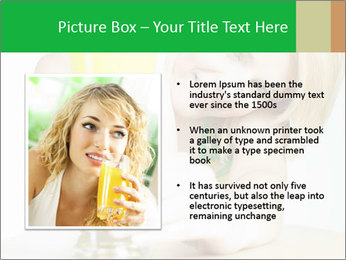 Woman And Orange Juice PowerPoint Template - Slide 13