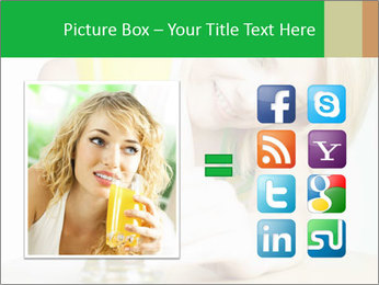 Woman And Orange Juice PowerPoint Template - Slide 21