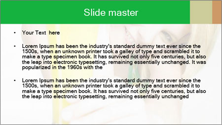 Woman And Orange Juice PowerPoint Template - Slide 2