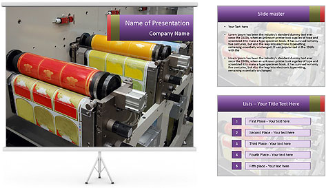Press Production PowerPoint Template