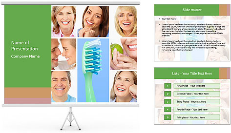 Pro Toothbrush PowerPoint Template