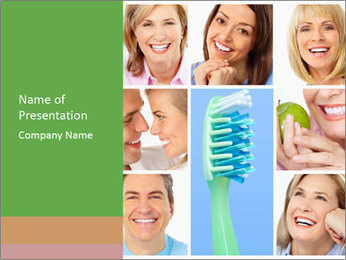 Pro Toothbrush PowerPoint Template - Slide 1