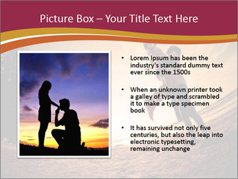 Happiness and romantic Scene of love couples partners on the Beach PowerPoint Template - Slide 13
