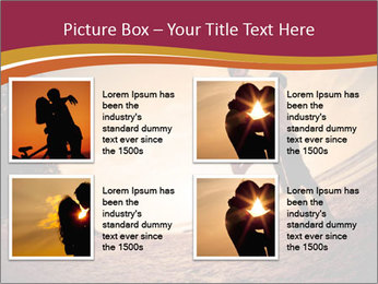Happiness and romantic Scene of love couples partners on the Beach PowerPoint Template - Slide 14