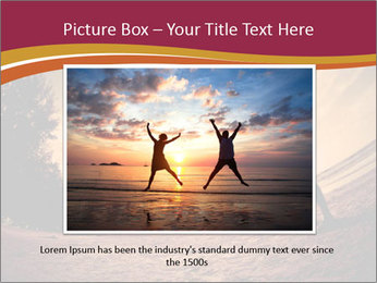 Happiness and romantic Scene of love couples partners on the Beach PowerPoint Template - Slide 16
