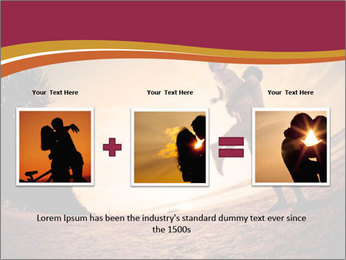 Happiness and romantic Scene of love couples partners on the Beach PowerPoint Template - Slide 22