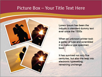 Happiness and romantic Scene of love couples partners on the Beach PowerPoint Template - Slide 23