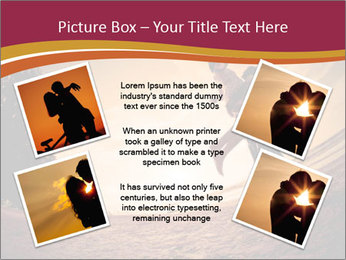 Happiness and romantic Scene of love couples partners on the Beach PowerPoint Template - Slide 24