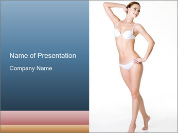 Happy young slim woman with beautiful perfect body PowerPoint Template