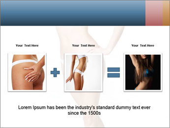 Happy young slim woman with beautiful perfect body PowerPoint Template - Slide 22