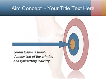 Happy young slim woman with beautiful perfect body PowerPoint Template - Slide 83