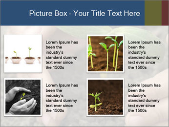 Green sprout in child hand PowerPoint Template - Slide 14