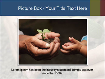 Green sprout in child hand PowerPoint Template - Slide 15
