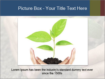 Green sprout in child hand PowerPoint Template - Slide 16