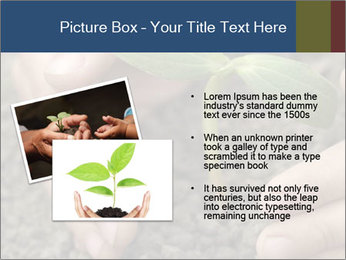 Green sprout in child hand PowerPoint Template - Slide 20