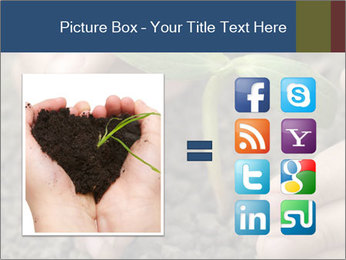Green sprout in child hand PowerPoint Template - Slide 21