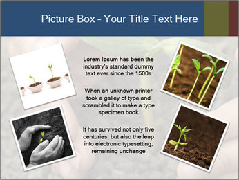Green sprout in child hand PowerPoint Template - Slide 24