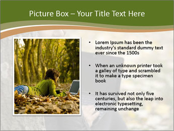 Beautiful woman working with a laptop PowerPoint Templates - Slide 13
