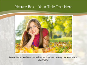 Beautiful woman working with a laptop PowerPoint Templates - Slide 15