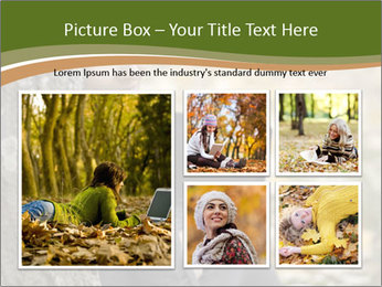 Beautiful woman working with a laptop PowerPoint Templates - Slide 19