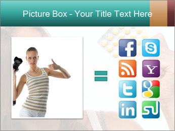 Woman Takes Pills PowerPoint Template - Slide 21