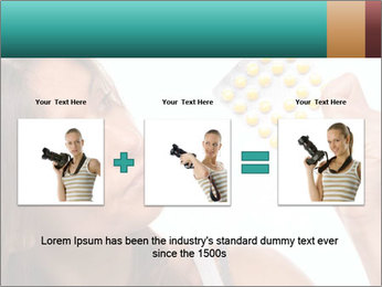 Woman Takes Pills PowerPoint Template - Slide 22