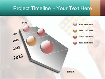 Woman Takes Pills PowerPoint Template - Slide 26
