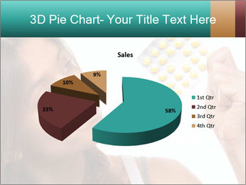 Woman Takes Pills PowerPoint Template - Slide 35
